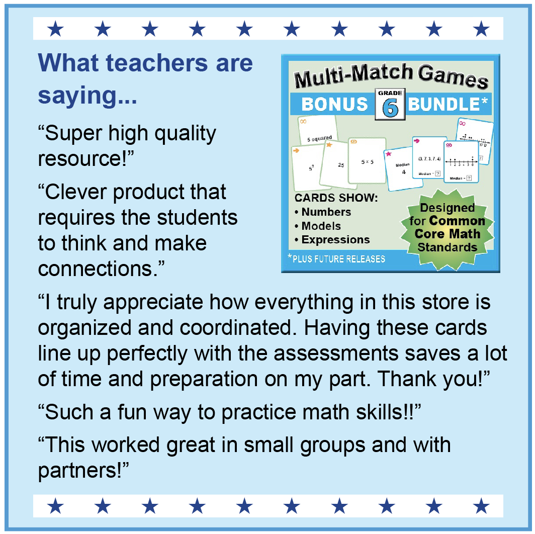 Math Games 6-8 | k8mathsense.com