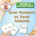 Even Numbers as Equal Addends