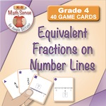 Equivalent Fractions on Number Lines
