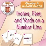 Inches, Feet, and Yards on a Number Line