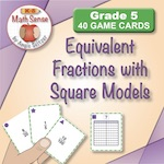 Equivalent Fractions with Square Models (Gr. 5)