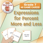 Expressions for Percent More and Less