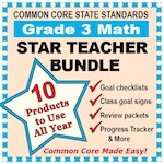 Grade 3 Math Star Teacher Bundle
