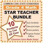 Grade 4 Math Star Teacher Bundle