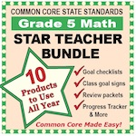 Grade 5 Math Star Teacher Bundle