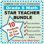 Grade 6 Math Star Teacher Bundle