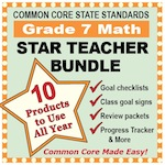 Grade 7 Math Star Teacher Bundle