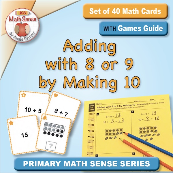 Adding with 8 or 9 by Making 10 Card Games 1A35
