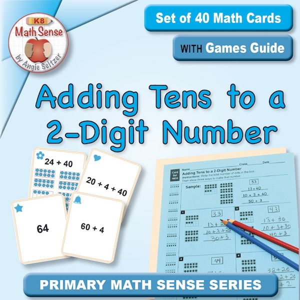 Adding Tens to a 2-Digit Number Card Games 1B33