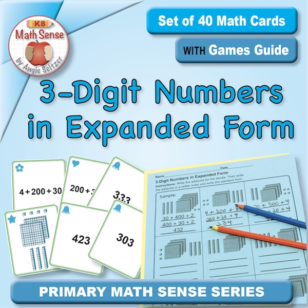 3-Digit Numbers in Expanded Form Card Games 2B17