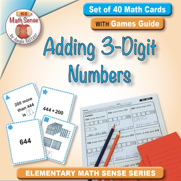 Adding 3-Digit Numbers Card Games 3B12