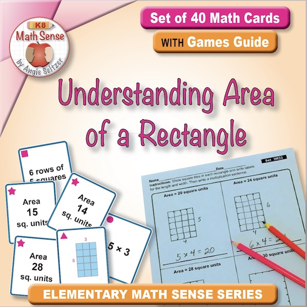 Understanding Area of a Rectangle Card Games 3M33