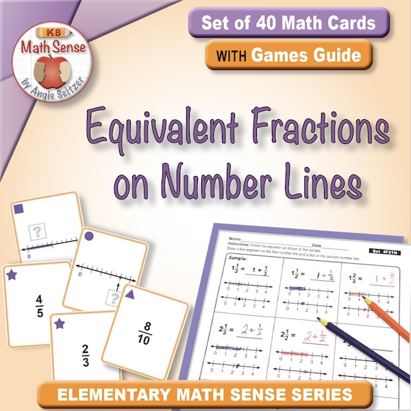 Equivalent Fractions on Number Lines Card Games 4F11-N