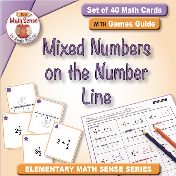 Mixed Numbers on the Number Line Card Games 4F21-N