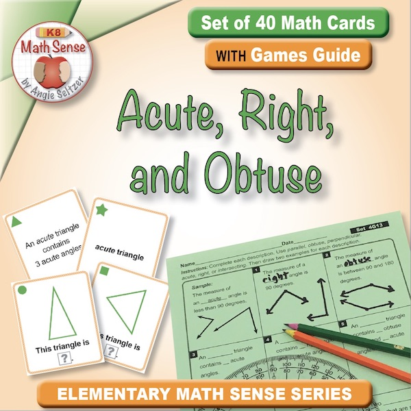 Acute, Right, and Obtuse Card Games 4G13