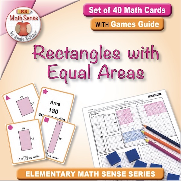 Rectangles with Equal Areas Card Games 4M17