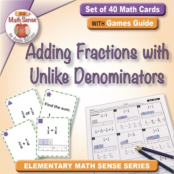 Adding Fractions with Unlike Denominators Card Games 5F12