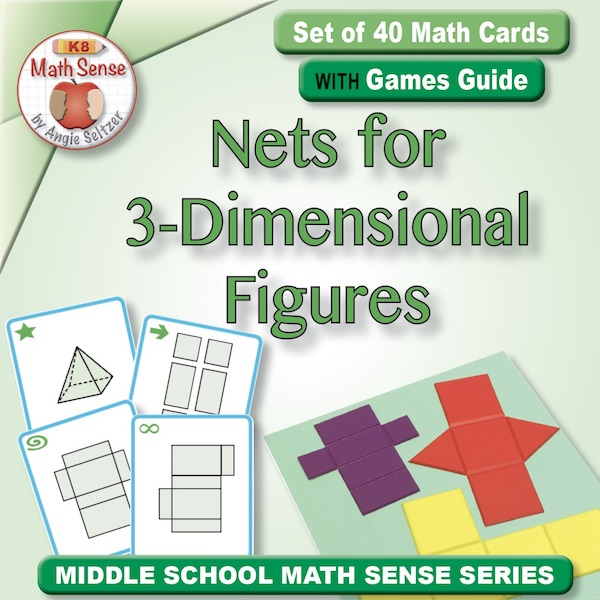 Nets for 3-Dimensional Figures Card Games 6G18