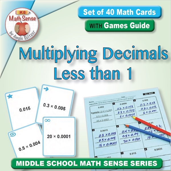 Multiplying Decimals Less than 1 Card Games 6N23