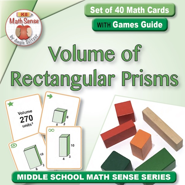 Volume of Rectangular Prisms Card Games 7G25