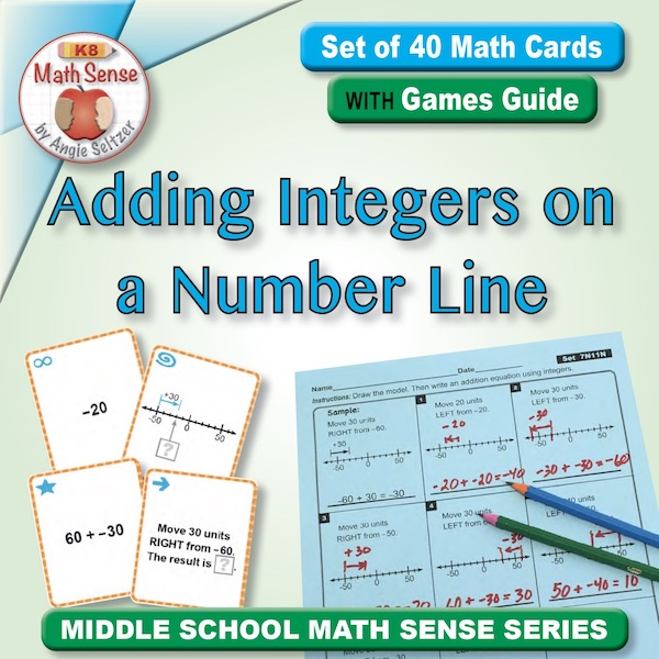 Adding Integers on a Number Line Card Games 7N11-N