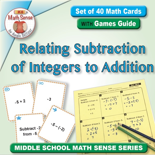Relating Subtraction of Integers to Addition Card Games 7N12