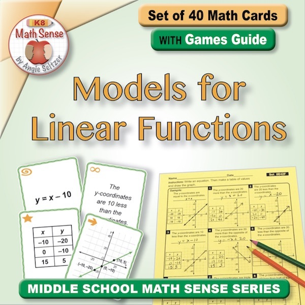 Models for Linear Functions Card Games 8E42-F