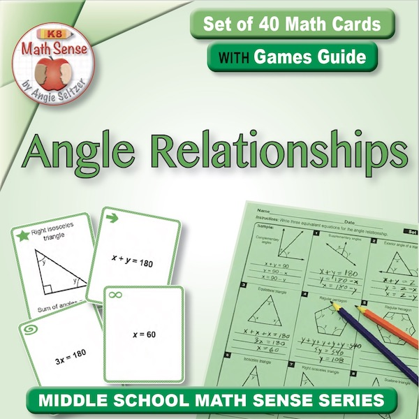 Angle Relationships Card Games 8G18