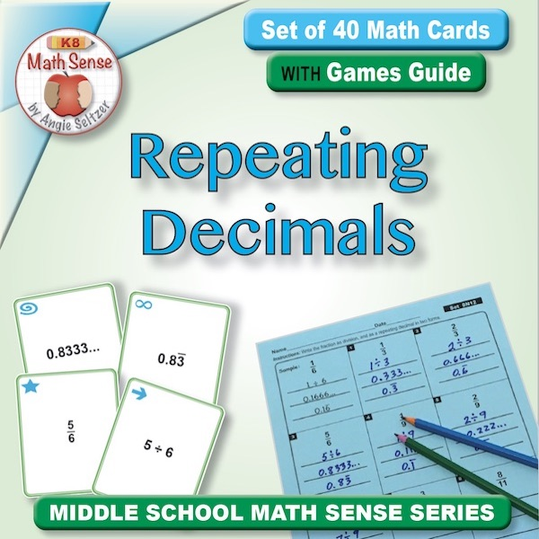 Fractions as Repeating Decimals Card Games 8N12