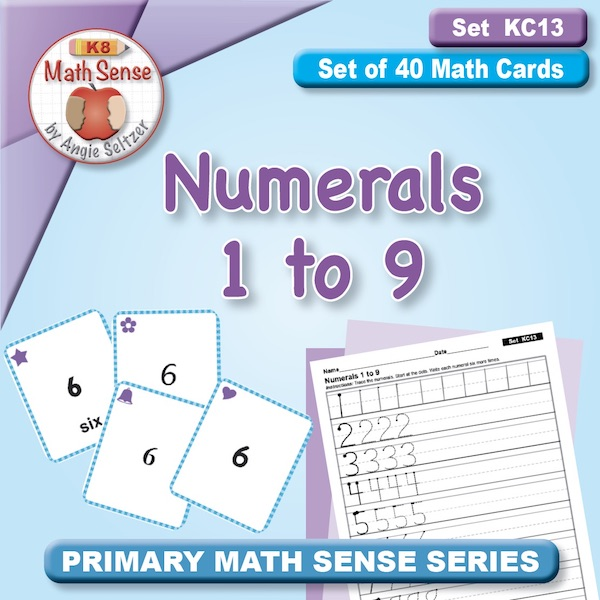FREE Numerals 1 to 9 Card Games KC13