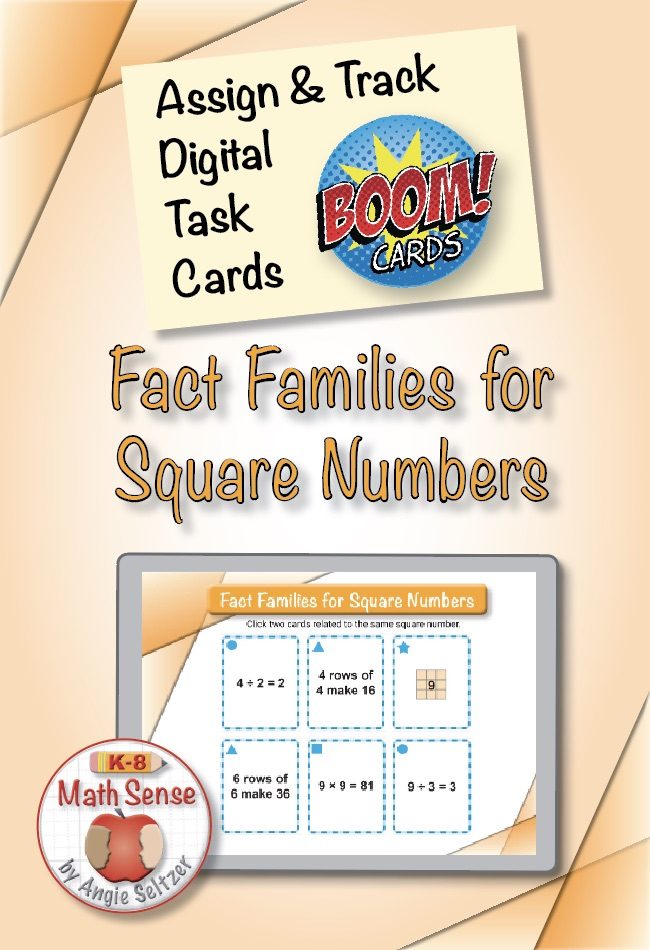 Square Numbers BOOM Cards