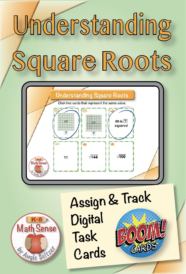 Square Roots BOOM Cards 8E14