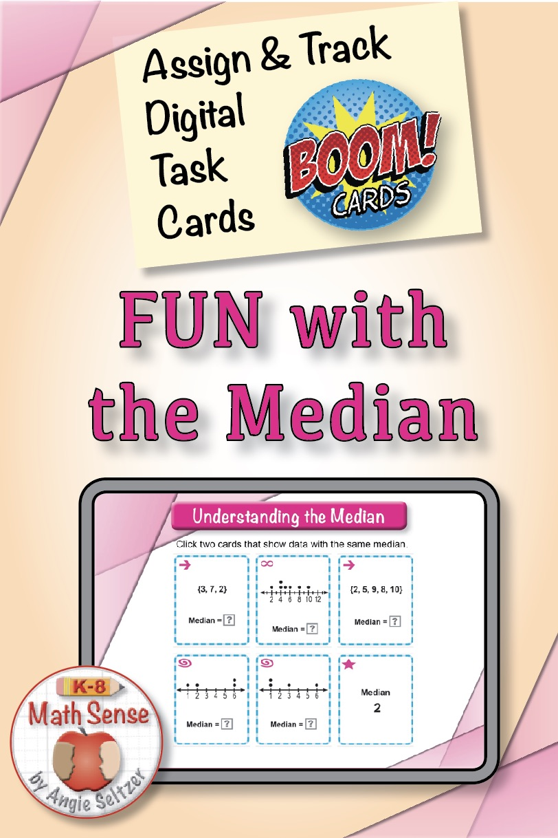 Median Boom Cards Median 6S13 at TpT