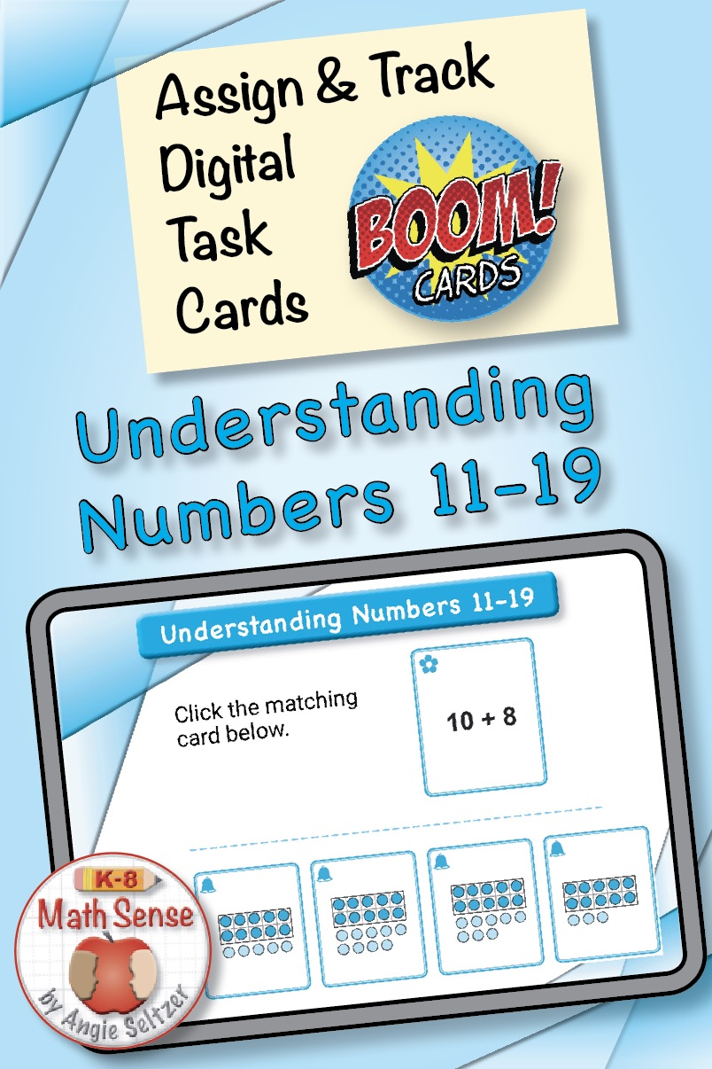 Numbers 11-19 Boom Cards KB12 at TpT