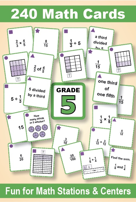 Grade 5 Games Galore Fractions