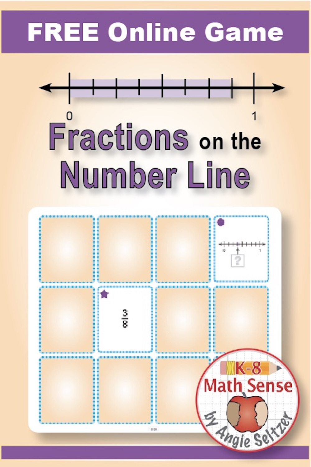 E-Game Fractions on the Number Line