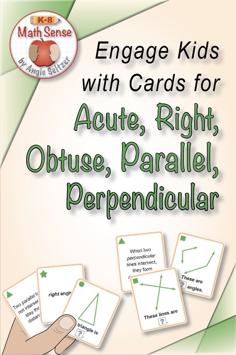 Acute Right Obtuse Parallel Perpendicular Cards 4G13