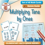 Set of 40 Math Cards with Games Guide