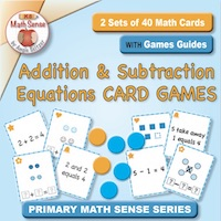 2 Sets of 40 Math Cards with Games Guide