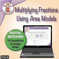 15 PPT/Digital Screens: Multiplying Fractions with Area Models