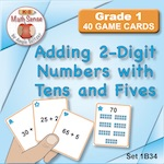 1B34 Adding 2-Digit Numbers with Tens and Fives