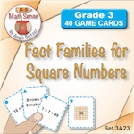 3A23 Fact Families for Square Numbers