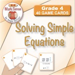 4A13 Solving Simple Equations