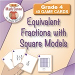 4F11 Equivalent Fractions with Square Models