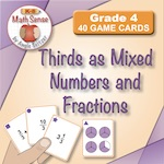 4F21 Thirds as Mixed Numbers and Fractions