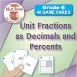 Unit Fractions as Decimals and Percents