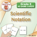 Scientific Notation Game Cards