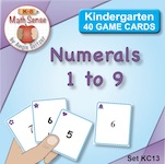 Set KC13 Numerals 1 to 9