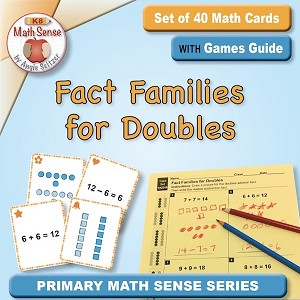 Fact Families for Doubles Card Games 1A23-D