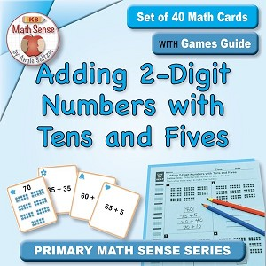 Adding 2-Digit Numbers with Tens and Fives Card Games 1B34-T